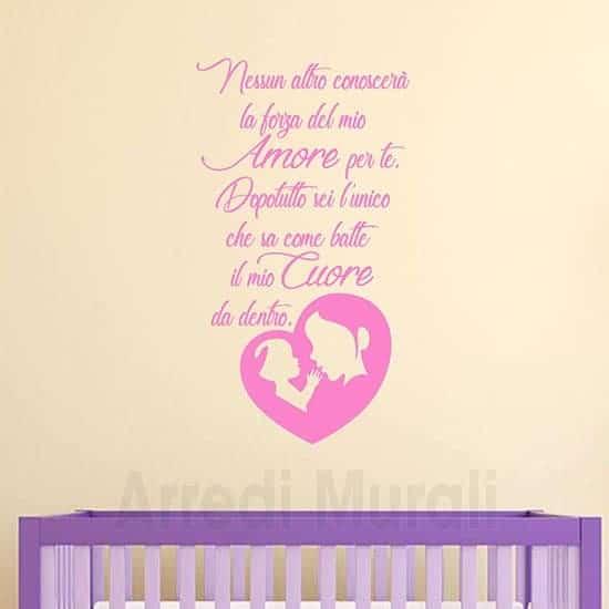stickers murali frase mamma rosa