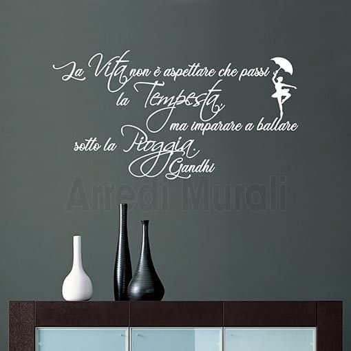 Scritte Per I Muri Di Casa Con Frase Adesiva Di Gandhi Ws1628
