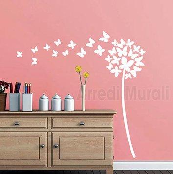 adesivi murali soffioni farfalle