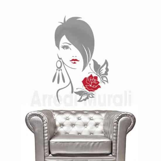 adesivi murali negozi viso donna