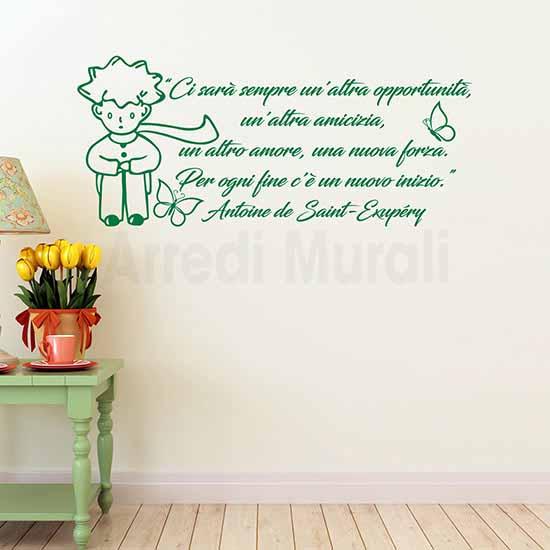 Frasi adesive Piccolo Principe famosa citazione in adesivi murali