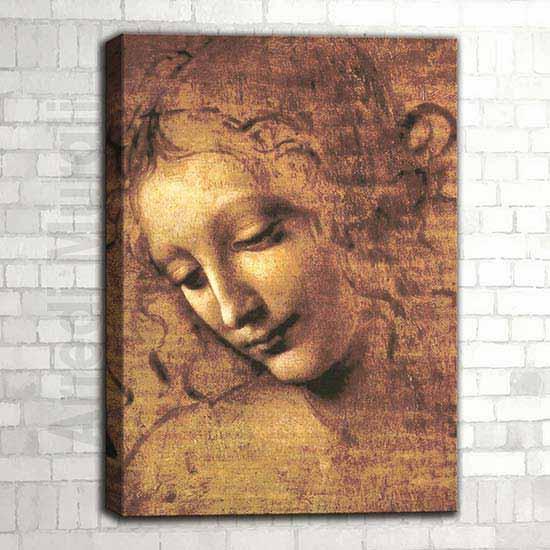 Quadro La scapigliata riproduzione d'autore della famosa opera di Da Vinci
