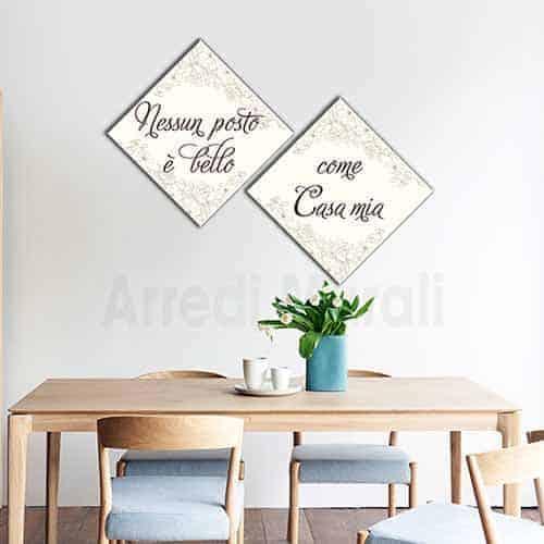 quadri con frase casa mia