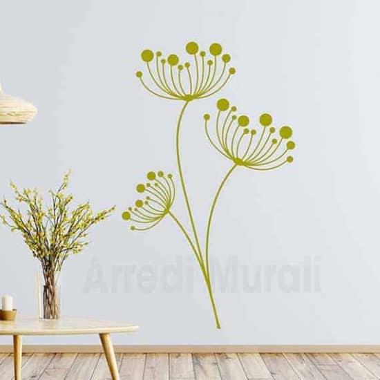 wall stickers fiori disegni adesivi floreali per arredare le pareti color oro