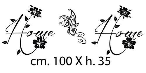 Adesivi home e farfalla per completare il quadro