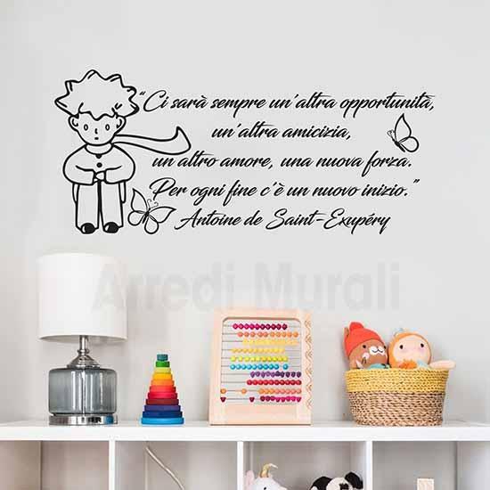 frasi adesive piccolo principe adesivi murali con citazione per ogni fine c'è un nuovo inizio
