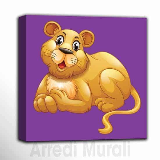 quadro per bambini arredo cameretta con cucciolo di leone