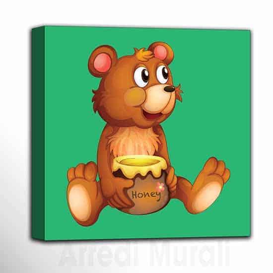 Quadri per bambini arredo camerette quadretto con orsetto