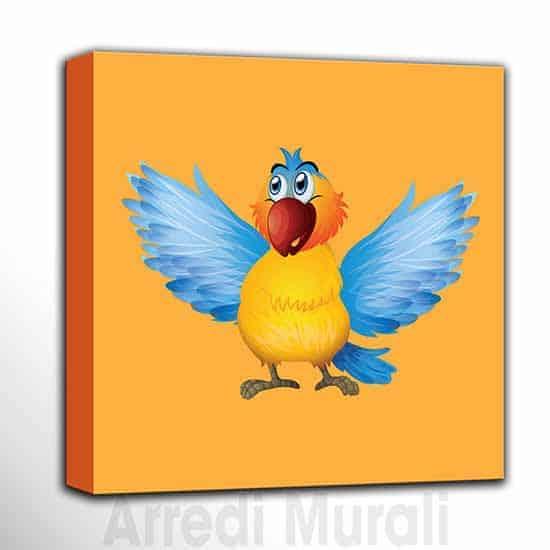 quadri per bambini per camerette quadro con uccellino