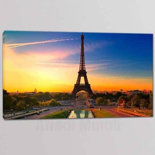 Quadro su tela Parigi con Torre Eiffel stampa su tela