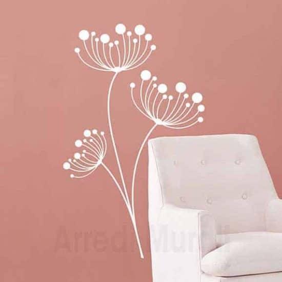 Wall stickers fiori disegni adesivi floreali binachi