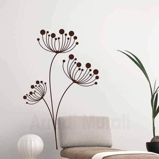 Wall stickers fiori disegni adesivi floreali per decorare le pareti di casa