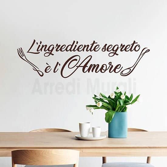scritta adesiva per cucina frase da applicare sulla parete o su altre superfici lisce