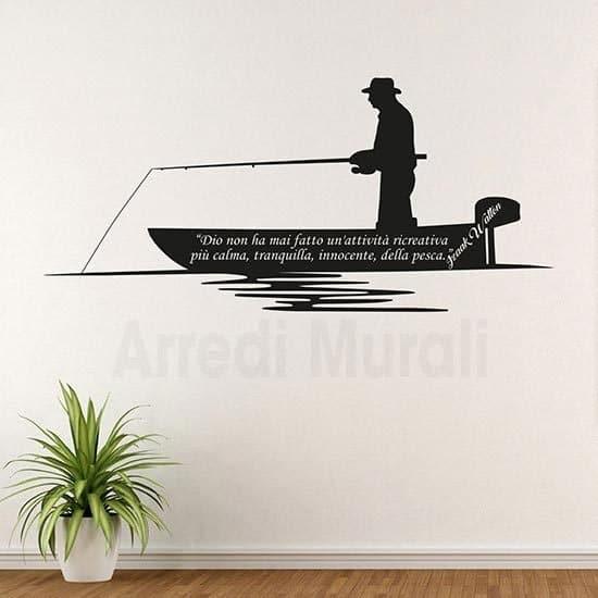 Adesivi murali frase Izaak nero