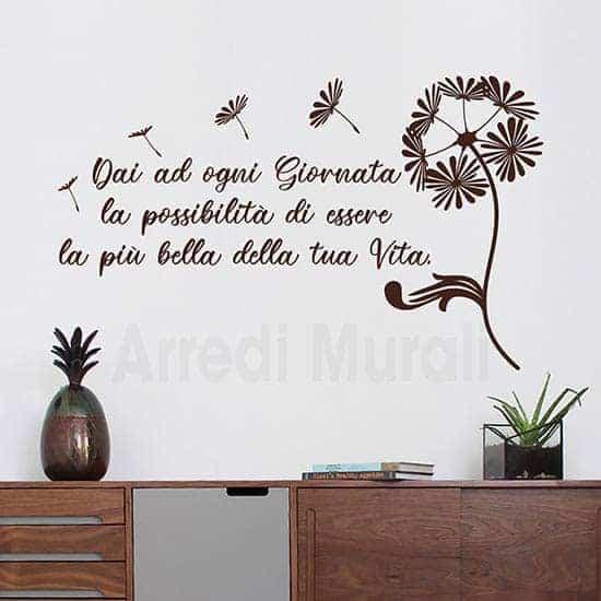 adesivi murali soffioni e frase adesiva per decorazioni da parete