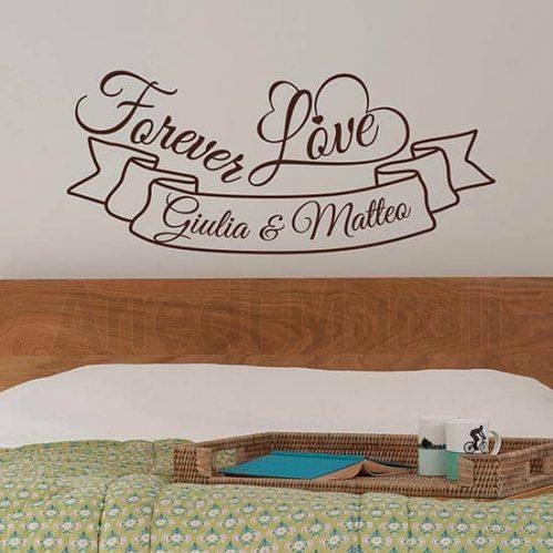 adesivi per pareti personalizzati con nomi e frase inglese adesiva forever love