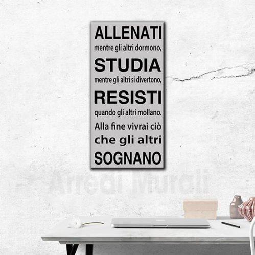 frase su quadro moderno stampa su tela di frase motivazionale