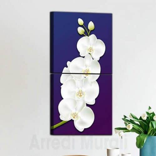 quadri moderni orchidea 2 quadri che compongono il bellissimo fiore