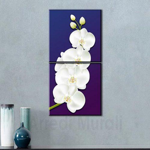 quadri moderni orchidea 2 quadri in arte digitale che insieme compongono il fiore