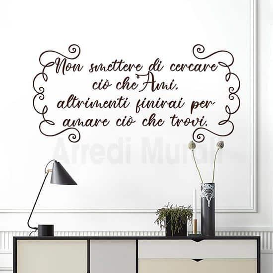 scritte adesive per pareti frase motivazionale per decorare i muri di casa