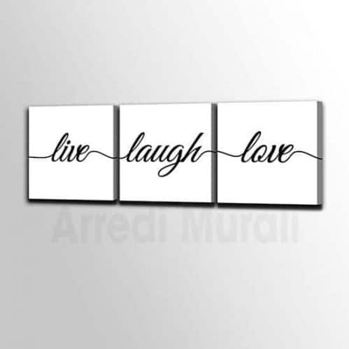 quadri moderni con scritte Live - Laugh -Love