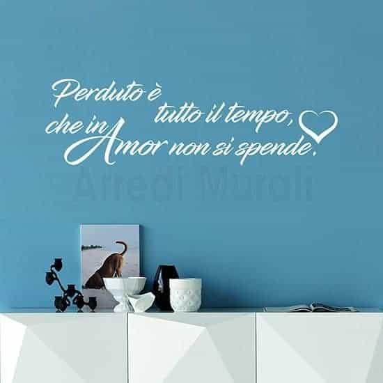 adesivi da parete frase d'amore per arredare o da regalare