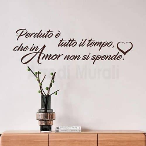 adesivi da parete frase d'amore colore marrone