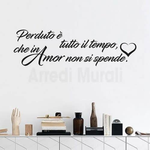 Adesivi da parete frase d'amore con scritte adesive