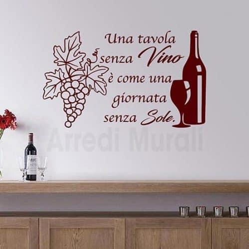 Adesivi da parete frase vino bordeaux