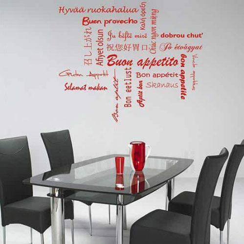 Adesivi murali buon appetito rosso