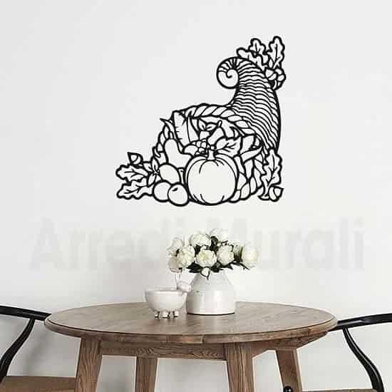 Adesivi murali cornucopia cibo nero