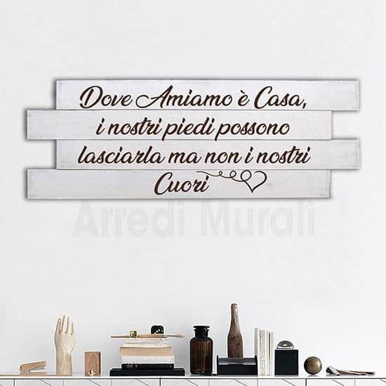 quadro da parete in legno con tua foto scritta dedica