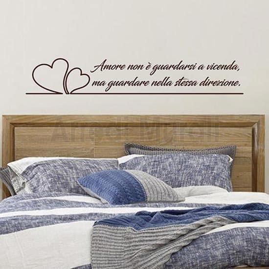 scritte personalizzate da parete decoro per testata letto