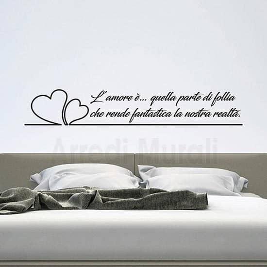 scritte personalizzate da parete con adesivi murali per camera da letto