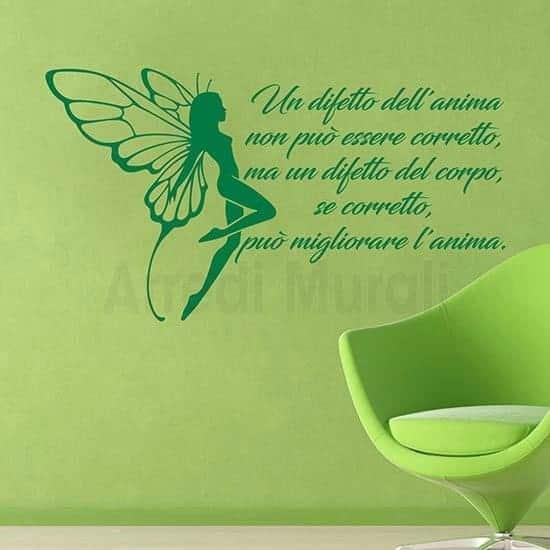 Stickers con frase sull'estetica verde
