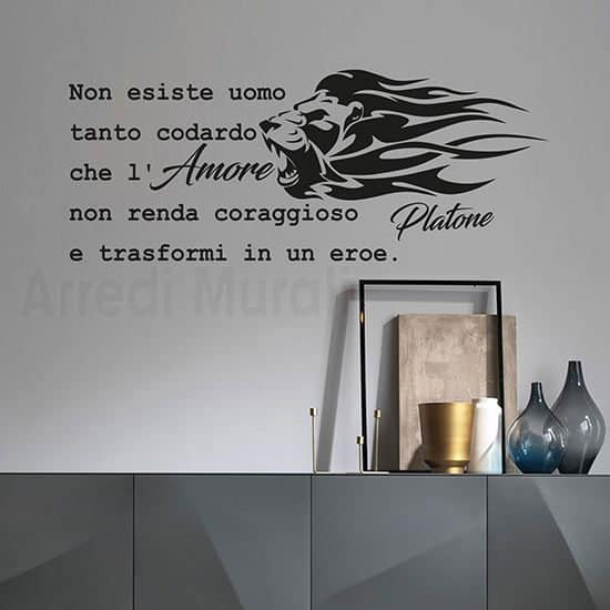 wall stickers frase platone nero