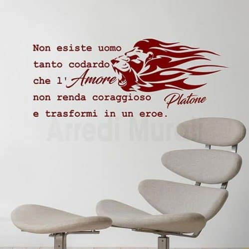 wall stickers frase platone bordeaux