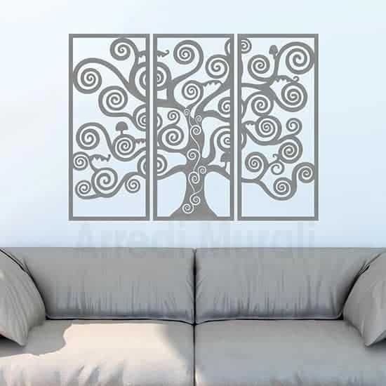 Decorazioni murali Albero della Vita argento