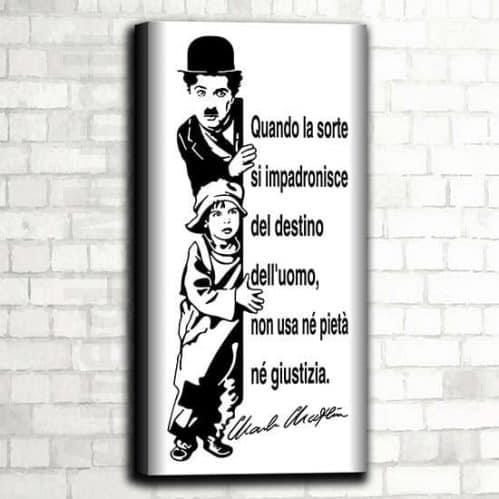 Quadro Charlie Chaplin moderno e con stampa su tela