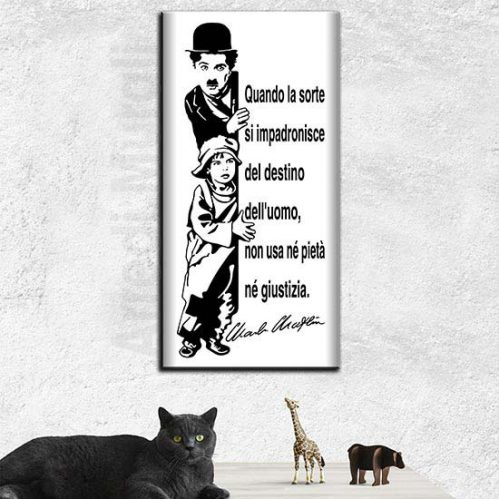 Quadro Charlie Chaplin stampa su tela moderno