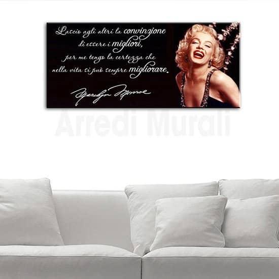 Quadro frase Marilyn Monroe e volto