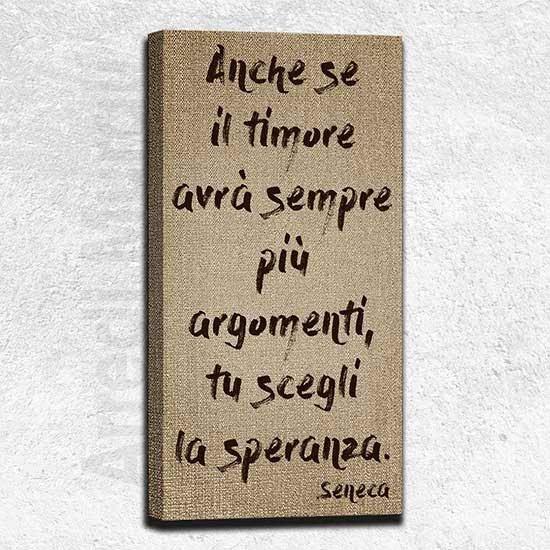 Quadro moderno frase Seneca COMPLEMENTO D'ARREDO MURALE