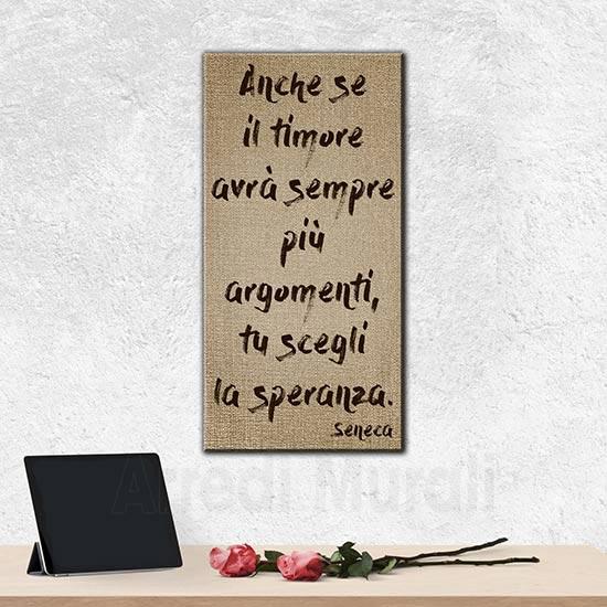 Quadro moderno frase Seneca stampa su tela