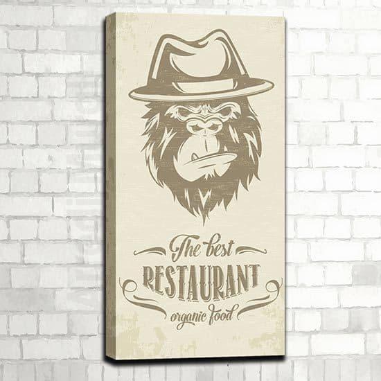 Quadro moderno ristorante con alimenti biologici
