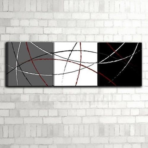 3 quadretti astratti in stile moderno