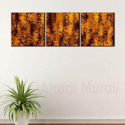 3 quadri moderni astratti su tela con predisposizione a tuo piacimento.