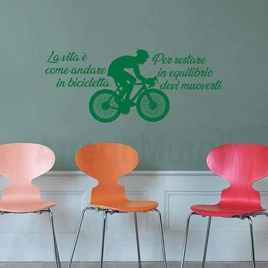 Decorazioni murali frase motivazionale verde