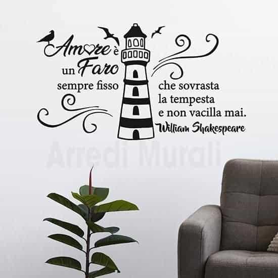 Decorazioni pareti con citazione nero