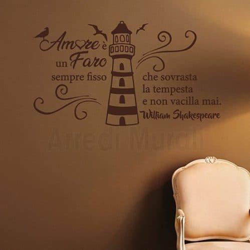 Decorazioni pareti con citazione marrone