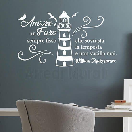 Decorazioni pareti con citazione bianco